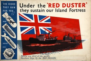 Britain's Red Ensign or 'Red Duster' is shown in this World War II poster