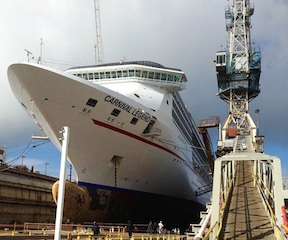 CARNIVAL LEGEND IN DRY DOCK