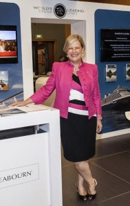 Carnival Australia CEO Ann Sherry at WLCL stand at Cruise3Sixty
