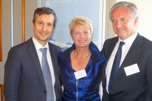 From left: Hervé Bellaïche, Compagnie Du Ponant's chief commercial officer; Sarina Bratton, Ponant's Australasian chairwoman and special advisor to the line's Marseille headquarters; Jean-Emmanuel Sauvee, founder and chief executive of Compagnie Du Ponant.