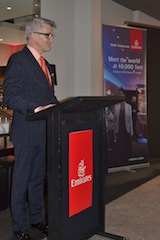 Emirates' Vice President Australasia, Bryan Banston hosted an exclusive ...