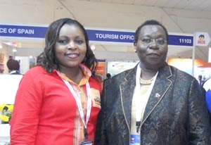 From L to R - Betty Ichan, Regional Marketing Manager-Emering Markets Kenya Tourism Board,  H.E Florence I. Weche, High Commissioner of Kenya to India