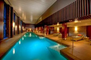 Hilton Queenstown Resort & Spa's indoor pool and hot tub