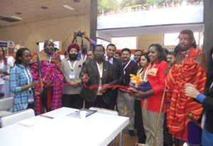 Inauguration of Kenya Stall at SATTE by H.E Florence I. Weche, High Commissioner of Kenya to India