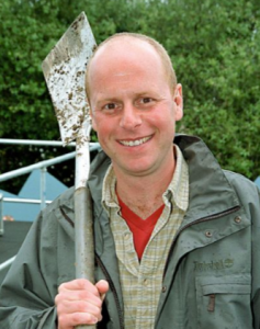 Joe Swift in his garden