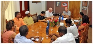 MEETING WITH BISHOP DENIS WIEHE AND SEYCHELLES INTERFAITH COUNCIL