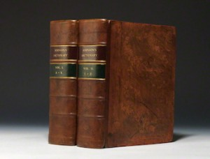 EARLY two-volumes of the famed dictionary. (Kreutz Rare Books)
