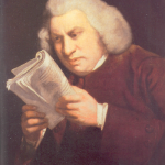 DR SAMUEL Johnson by 18th century painter Joshua Reynolds, depicting how    Johnson was partially blind. (Academy of Arts)