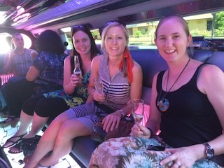 Sheree Smith, Caitlyn Mitchell and Amy Warner from Infinity Holidays - Limo Transfers to Mt Lofty House