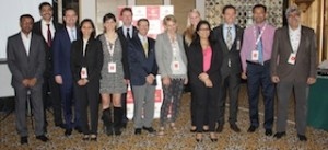 Swiss delegation at the press conference in Mumbai