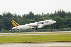 tigerair plane with new branding - IMAGES BY JAMES MORGAN