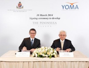 Mr Clement K.M. Kwok, Managing Director and Chief Executive Officer of HSH (left) and Mr Serge Pun, Chairman of Yoma Strategic Holdings Ltd (right).