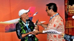 Australian Outrigger Canoe Racing Association President Mark Forbes acce...