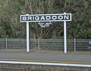 EVEN Bundanoon Station morphs into Brigadoon for a day. (TrainLink)