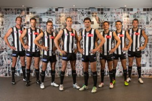 From L-R: Collingwood Football Leadership team - Lachlan Keeffe, Nathan Brown, Steel
