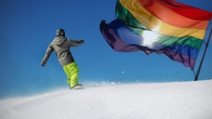 Cardrona flying the rainbow flag high