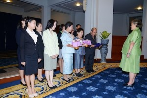 Dusit Thani Pattaya is granted an audience by HRH Princess Chakri Sirindhorn