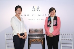 (From Left) Liang Yi Museum managing director Lynn Fung and Florence Hui, Under Secretary for Home Affairs of Hong Kong SAR