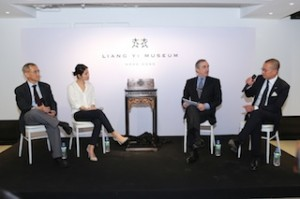 (From Left) Peter Fung, Lynn Fung, Kevin Ching, CEO of Sotheby's Asia and museum advisor Francois Curiel, President of Christie's Asia and renowned jewellery expert