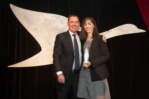Hotel of the Year - Simon McGrath and GM of Mercure Melbourne Treasury Gardens, Karen Taylor