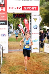 Arrowtown.com Miner's Trail female winner Louisa Andrew breaks her own course record