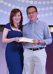Mr. Janny Yeow, Director of Sales & Marketing with Mr. Kenneth Chong, Grand Prize Winner