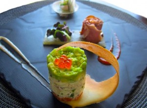 Navo Entree_Spiced Shimofuri Tuna, Natadola Mud Crab Tian and Crayfish Kokoda