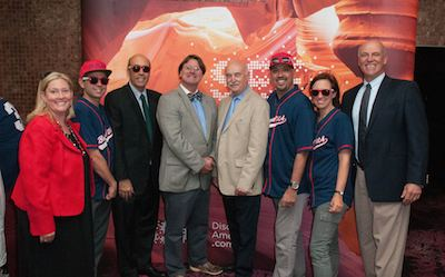 Left to right : Sherilyn Robinson Visit USA, Joe Ponte Brand USA, Hugo Llorens US Consulate General, Mark Sheehan Visit USA, Geoffrey Hutton Visit USA, Alfredo Gonzales Brand USA, Jo Palmer Brand USA and Tom Nicholson MLB.