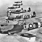 Plane Spitfires in formation 1940s.Panavia.RSZ