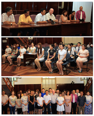 Press conference with the Chinese students