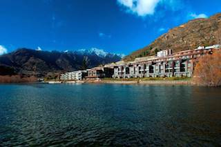 The Hilton Queenstown Resort & Spa and Kawarau Hotel at the foothills of The Remarkables