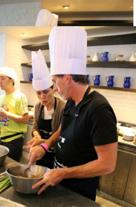 Mark Hughes, Selector Magazine (right) at JW Marriott Marquis' Positano Coastal Italian's Masterclass
