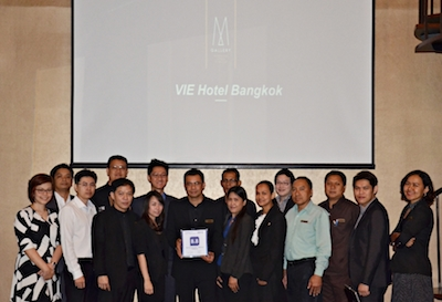 VIE Hotel Bangkok Receives 2013 Best Guest Review Award from Booking.com