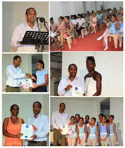 certificate award for dance and music students