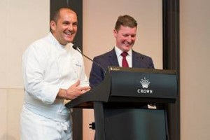 Left to right: Guillaume Brahimi, renowned chef soon to open Guillaume in Paddington, and Andrew Cairns, GM of Crown Towers