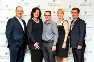 Left to right: Matthew Upchurch, Virtuoso; Elizabeth Clarke and David Brandon, Travel Concepts; Becky Powell and Michael Londregan, Virtuoso