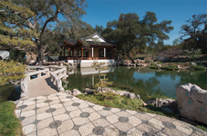 The new Clear and Transcendent pavilion in the Chinese Garden at The Huntington Library, Art Collections, and Botanical Gardens. Photo: The Huntington Library, Art Collections, and Botanical Gardens