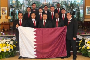 (Randy Santos, Chef Concierge from InterContinental Doha, appointed President of Les Clefs d'Or Qatar)