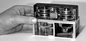 Inside an early version of the black box flight recorder. DSTO