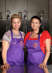 Jaimie and Bec - holding their place in the top three in TVOne's MasterChef New Zealand series