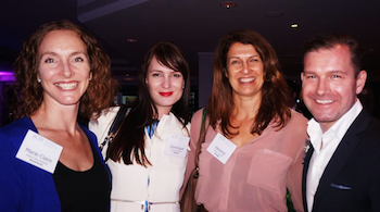 Marie-Claire Andrews (ShowGizmo), Dominique Rennell (ciEvents), Veronica Verdonk (Westpac) & Andrew Kelly (ACTE).