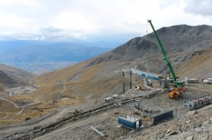 Progress on the Curvey Basin chairlift