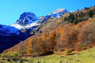 THE rugged Pyrenees Mountains in which the Holy Grail was supposedly hidden    for safe-keeping over the centuries. (Wikimedia)