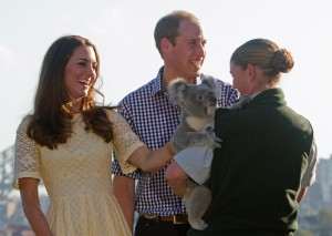 Royal couple with Leuca the Koala