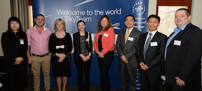 SkyTeam member airline reps at China Southern brunch