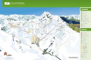 The new trail map for The Remarkables features the Curvey Basin chairlift and new runs