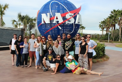 Topdeck US Mega Famil participants at NASA's Kennedy Space Center