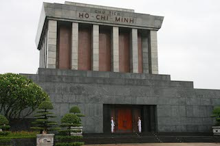 RESTING place for a national leader and hero: the Ho Chi Minh Mausoleum.