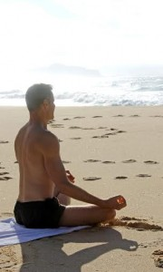 Yoga on beach at Port Stephens