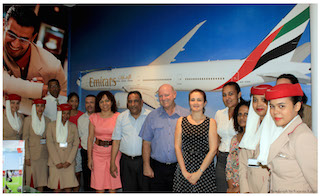 group photo with emirates and delegation